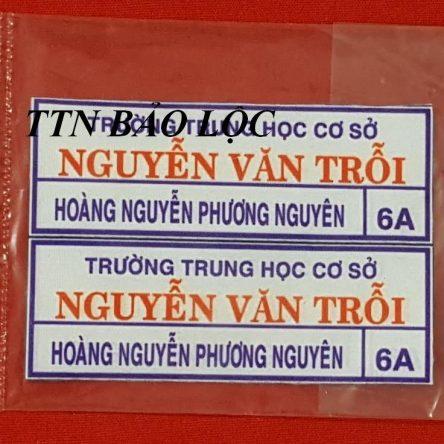 Bảng tên logo ủi nhiệt